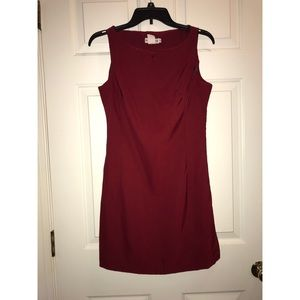 Red VINTAGE Bodycon formal polyester dress